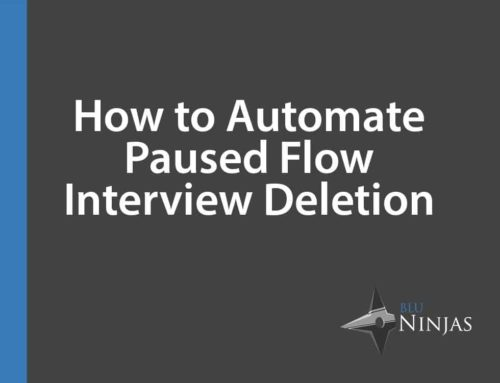 Delete Paused Flow Interviews in Salesforce