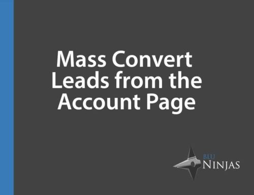 Convert Leads from Account Page