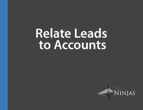 Relate Leads to Accounts