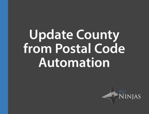 Update County Based on Postal Code