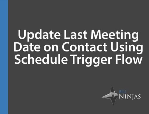 Update Last Meeting Date on Contact Record Using Schedule-Trigger Flow